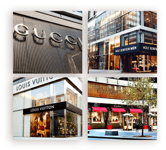 Next door to Canada's leading luxury marketplace